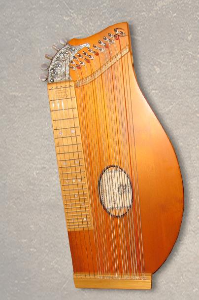Kinderzither und Schülerzither 27-saitige Konzertzither Mensur 43 cm oder 40,5 cm Fichte gebeizt