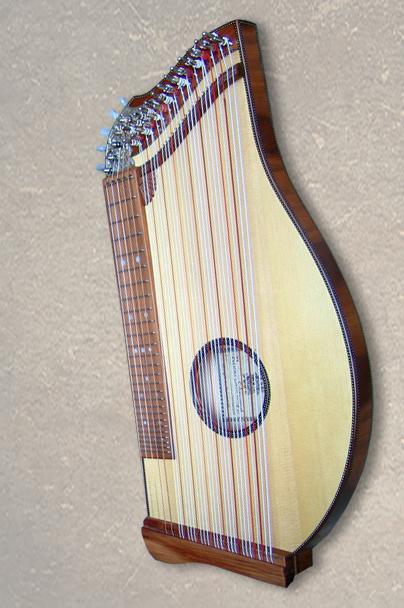 Kinderzither und Schülerzither 32-saitige Konzertzither Mensur 43 cm oder 40,5 cm Fichte Natur Griffbrett und Stege aus Zwetschge